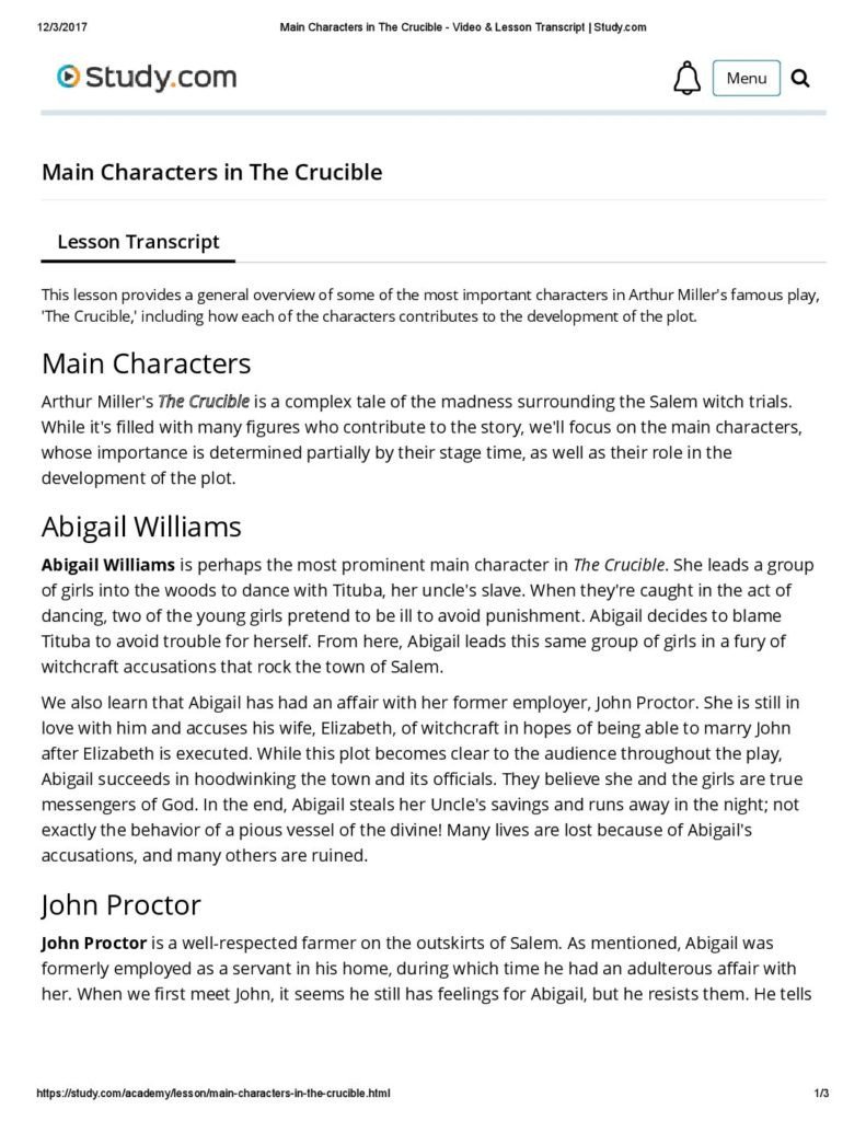 the crucible cause and effect essay